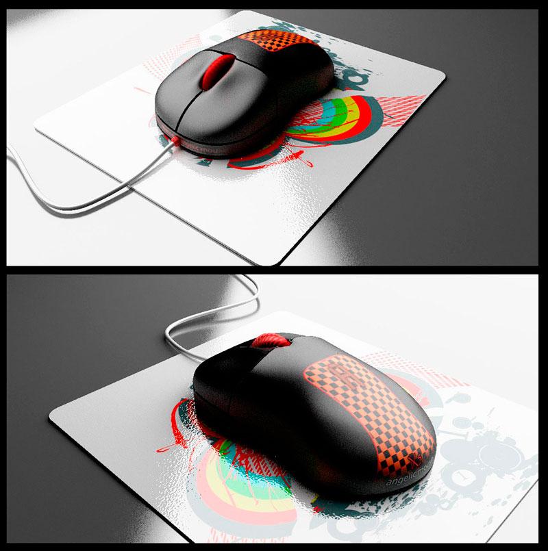 3D визуализация компьютерной мыши